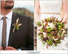 rustic wedding bouquet, fall wedding flowers, rustic boutonniere