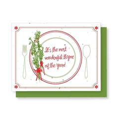 Grow-A-Note® Thyme of the Year - Green Field Paper Company plantable seed embedded holiday card