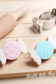 Nouvelle joie l/'il kitch stockage Rouleau /& 4 cookie cutters Kids cuisson bleu