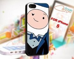 Finn adventure time - design for iPhone 5 Black case