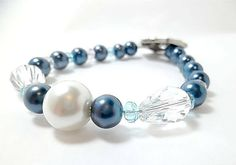 Wedding/ Pearl Bridal Bracelet/Bridal by DarlenesGlassGarden, $29.00