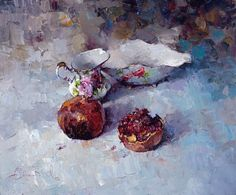 Still Life with Pomegranate<br><i>(not for sale)</i> - Alexi Zaitsev - Sale of paintings and other art works