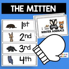 Printable in Documents as Mitten+Freebie+fo Retelling Activities, Vocabulary Activities, Kindergarten Activities, Preschool Activities, Winter Activities, Preschool Education, Preschool Books, Preschool Printables, Math Pages