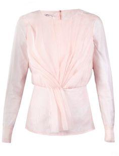 7d91f592008 oscar de la renta organza blouse - Google Search Peplum Blouse