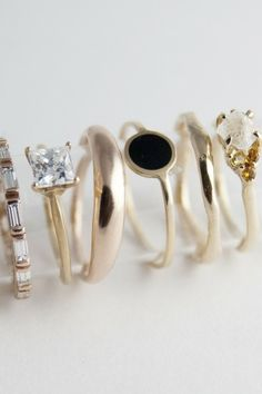 Baguette ring on the left.