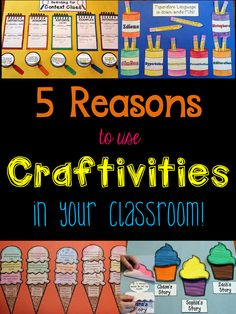 5 Reasons to Use Craftivities in your classroom! (Reason #6... they can be used as great review activities to keep kids engaged until the very last day of school!)