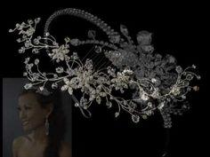 {THERESA} Beaded Floral Spray Part1of2: DIY Bridal Beaded Hair Comb - YouTube