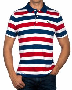 Polos LACOSTE ® Tricolor | Envío Gratis Camisa Polo, Polos Lacoste, Polo Shirt, Shirt Men, T Shirt, Mens Fashion, Fashion Outfits, Fashion Trends, Casual Attire