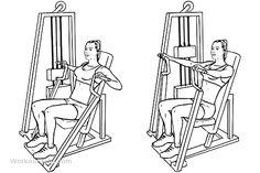 Hammer Strength Machine / Seated Chest Press