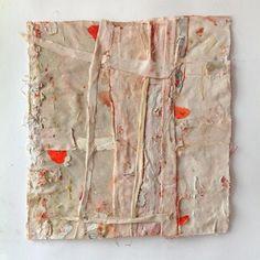 Sati Zech Bollenarbeit no. 249, 2014, oil,canvas, 44 x 46 cm (17.6 x 18 inches)buldan bezi + vişne + balmumu  \\