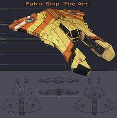 Fire Ant Patrol Ship by Samize.deviantart.com on @DeviantArt