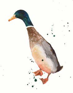 """Saatchi Online Artist: Eastwitching Art; Giclée Print, 2010, Printmaking """"DUCK Art Print"""""""