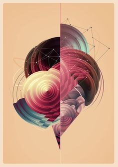 Abstract illustration by Marija Matovic, via Behance