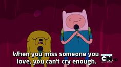 The Best of the Many Adventure Time Quotes Adventure Time Quotes, Watch Adventure Time, Adventure Time Anime, Missing Someone You Love, Cant Cry, Finn The Human, Jake The Dogs, Love Is Everything, Marceline
