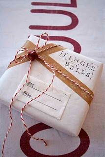 I like the twine. sweet holiday gift wrapping