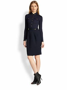 Burberry Brit - Military Knit Dress - Saks.com