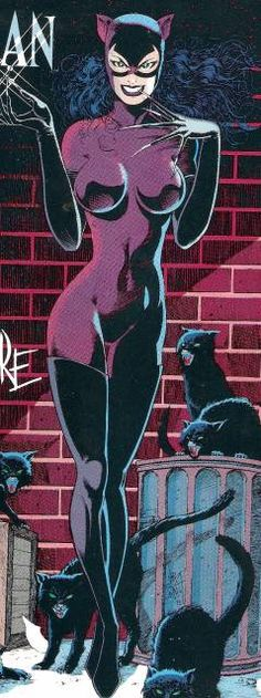 Catwoman, the costumed alias persona of Selina Kyle, is a mostly reformed cat burglar with an on-again, off-again, romantic relationship with Batman. She is shown as a woman who is very strong-willed, independent and morally conflicted with her past.