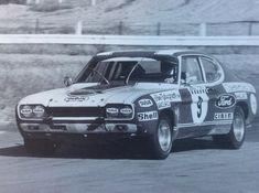 David McKay at Hume Weir circuit during the 1972 Dulux Rally run down Australia's East Coast. Australian Cars, Ford Capri, Cologne, Rally, Motor Sport, Mk 1, David, Racing, East Coast