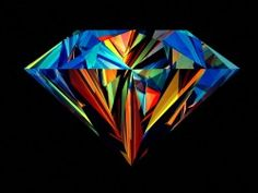 Abstract Colorful Diamond Wallpaper
