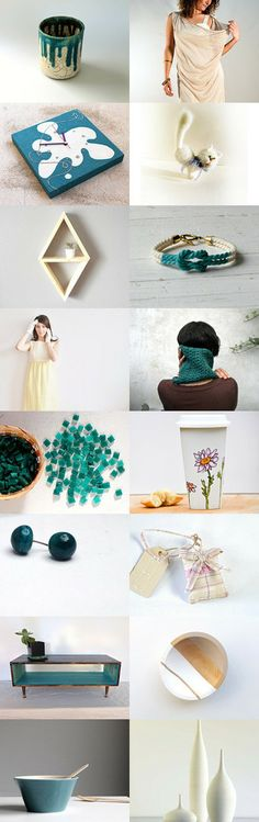 teal spring by Giulio Zap Pedrana from Musicatelier on Etsy--Pinned with TreasuryPin.com