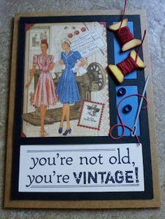 Piece of Cake... Handmade Cards: Birthday Card ~ Graphic 45, Memory Box, Tim Holtz, & 7 Gypsies