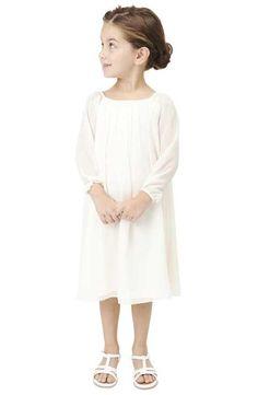 Babes of the Nile by Joanna August Long Sleeve Chiffon Midi Dress (Toddler Girls, Little Girls & Big Girls)