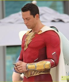 Chennai Super Kings, Zachary Levi, Dc Movies, Detective Comics, Justice League, Spiderman, Men Sweater, Cosplay, Costumes