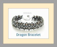 Hey, I found this really awesome Etsy listing at https://www.etsy.com/listing/245808564/dragon-bracelet-beaded-pattern-tutorial