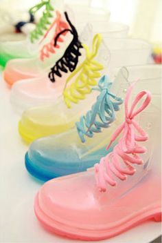 Sanrense transparent candy color rain boots - $23