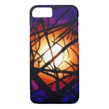 Stained Glass Moon Abstract iPhone 7 Case