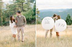 Balloon Save The Date idea. Photos by Rachel Havel