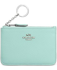 3610218e97fe COACH Key Pouch in Polished Pebble Leather Handbags   Accessories - Macy s