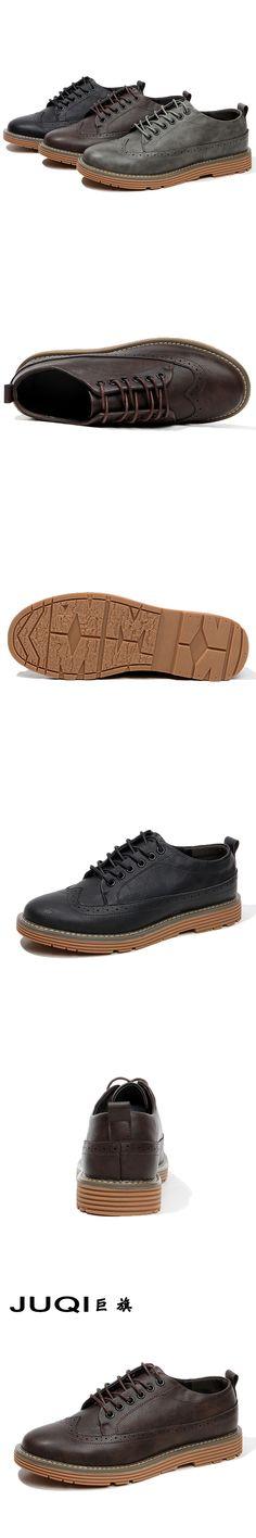 Men Leather Shoes Casual 2017  Fashion Shoes For Men Designer Shoes Casual Breathable brogue Mens Shoes Comfort