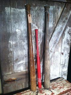 Vintage Baseball Bat Set of 3 by ZassysTreasures on Etsy, $45.00