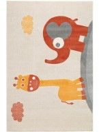benuta Kid's Rug Giraffe and Elephant order favourable online Giraffe, Elephant, Carpet, Kids Rugs, Blue, Animals, Home Decor, Designs, Nursery Ideas