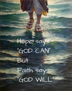 FAITH IS  KNOWING GOD WILL