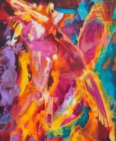 Ariane Ouellet   L'Élan de Matéo, acrylique sur toile.
