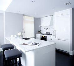 clean marble kitchen