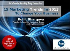 15 Marketing Trends in 2013