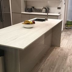 """Eminent Kitchens on Instagram: """"Annother stunning kitchen installation in a new extension project. Marmo Blanco solid surface worktop supplied by @sheridanworktop Gloss…"""" Kitchen Installation, Solid Surface, Work Tops, Apollo, Extensions, Kitchens, Tech, Projects, Instagram"""