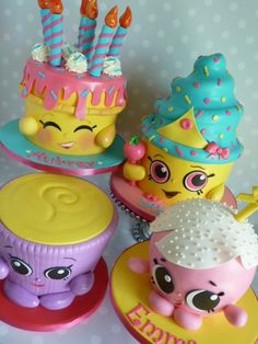 Shopkins Birthday Cake, Shopkins Cake, Fondant Cakes, Cupcake Cakes, Cupcakes, Gucci Cake, Galaxy Cake, Pasta Flexible, All Things Cute