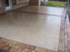 Stamped concrete patterns patio ideas: Don\'t get a bed which is too large to the bedroom. A little room by using a king bed will be small, and cramped. It is going to keep you from putting other furniture. Concrete Patios, Concrete Patio Designs, Cement Patio, Brick Patios, Colored Concrete Patio, Stained Concrete Driveway, Garden Pavers, Paver Designs, Pavers Patio
