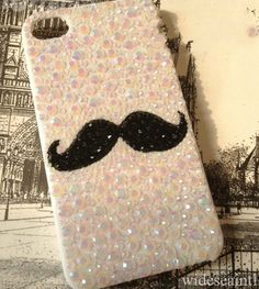 iPhone Hard Case Bling Crystal Mustache $29.99