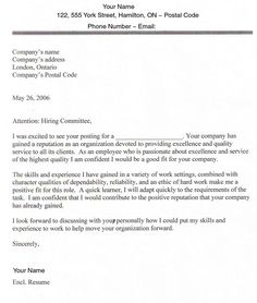 cover letter for job cover letter example cover letters employment