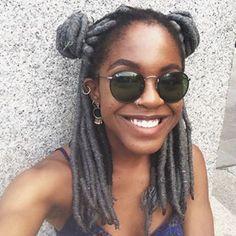 These luscious faux locs. Yarn Braids, Crochets Braids, Twist Hairstyles, Black Girls Hairstyles, Protective Hairstyles, Yarn Faux Locs, Grey Box Braids, Faux Locs Colored, Grey Hair Looks