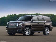 2015 GMC Yukon Denali. A bland of luxury and practicality, but I do like this trim.