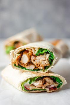 Easy Chicken Wrap - My Active Kitchen