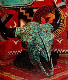 bull skull mosaic. I want thissss