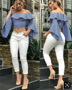 Classy Outfits, Chic Outfits, Fashion Outfits, Girls Fashion Clothes, Girl Fashion, Clothes For Women, Latest African Fashion Dresses, Stylish Tops, African Attire