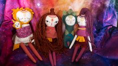 Handmade Doll Cosmic Mandala Family